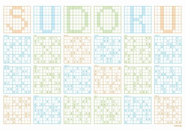 Papiertischset Sudoku